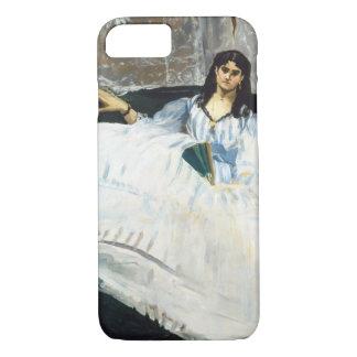 エドワールManet -ファンを持つ女性 iPhone 8/7ケース