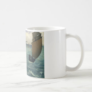 エドワールManet -ブローニュのKearsarge コーヒーマグカップ