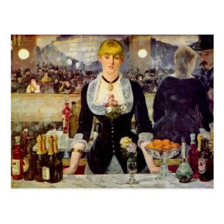 エドワールManet - Folies-Bergereカードのバー ポストカード