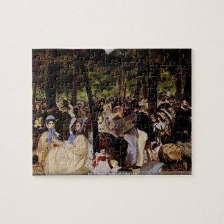 エドワールManet - Tuilerieの庭のパズルの音楽 ジグソーパズル