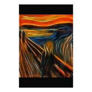 エドヴァルド・ムンクを絵を描く叫びのフラクタル 便箋