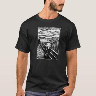 エドヴァルド・ムンク叫びの石版印刷のTシャツ Tシャツ