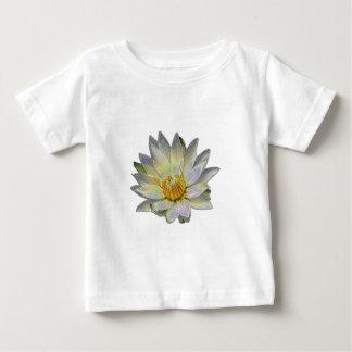 エナメルの特殊効果の白い《植物》スイレン ベビーTシャツ