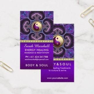 エネルギーホリスティックのニューエイジを直す紫色のフラクタル 名刺