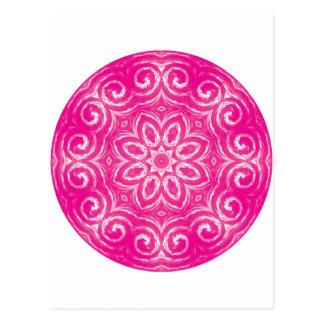 エネルギー曼荼羅-ピンク ポストカード
