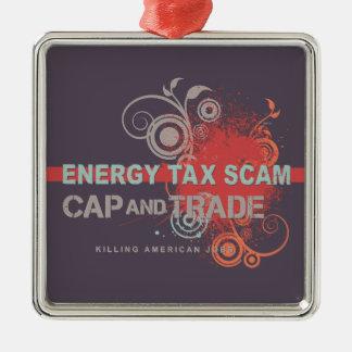 エネルギー税の詐欺 メタルオーナメント