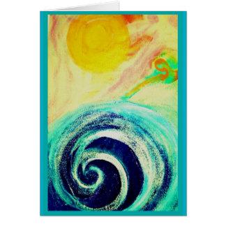 """""""エネルギー""""空白のなカード グリーティングカード"""
