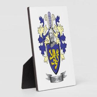 エバンズの家紋の紋章付き外衣 フォトプラーク