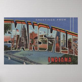 エバンズビル、インディアナ-大きい手紙場面 ポスター