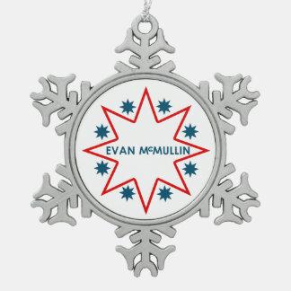エバンMcMullin -それは決して余りに遅くないです スノーフレークピューターオーナメント