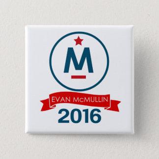 エバンMcMullin 2016年 5.1cm 正方形バッジ