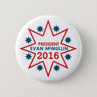 エバンMcMullin 2016年 5.7cm 丸型バッジ