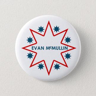 エバンMcMullin 5.7cm 丸型バッジ