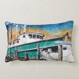 エビのボートの航海のな芸術 ランバークッション