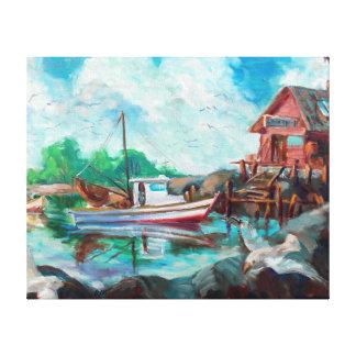 エビのボート キャンバスプリント