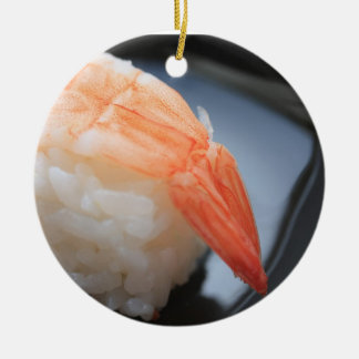 エビの寿司のオーナメント セラミックオーナメント
