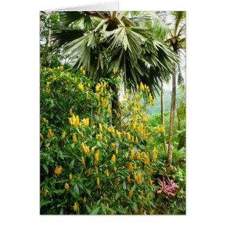 エビの植物およびやし カード