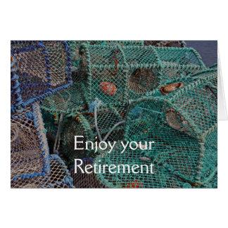 エビ取りかごの退職カード カード