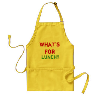 """エプロンは""""昼食のため何ですか。"""" スタンダードエプロン"""