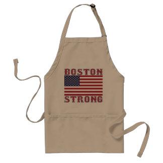 エプロンを焼くボストン強い米国旗 スタンダードエプロン