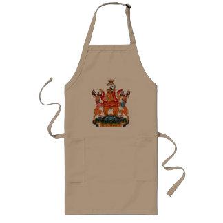 エプロンニューブランズウィックの紋章付き外衣 ロングエプロン