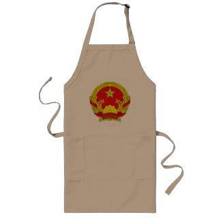 エプロンベトナムの紋章付き外衣 ロングエプロン