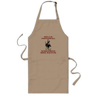 エプロン名前入りな西部BBQのカウボーイのブロンコの馬 ロングエプロン