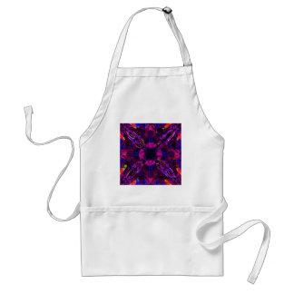 エプロン-フラクタルパターン紫色の青いピンク スタンダードエプロン