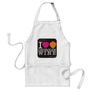 """エプロン""""私はジョージ王朝のワイン""""を、黒いロゴ愛します スタンダードエプロン"""