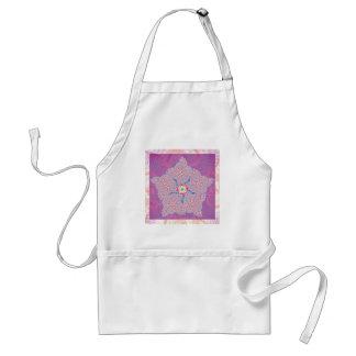 エプロン-紫色の星のフラクタルパターン スタンダードエプロン