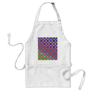 エプロン-虹の曼荼羅のフラクタルパターン スタンダードエプロン