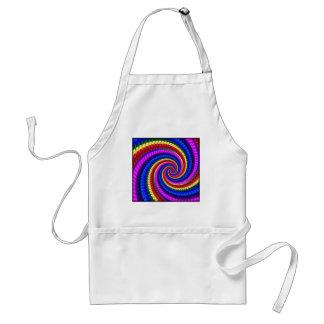 エプロン-虹の渦巻のフラクタルパターン スタンダードエプロン