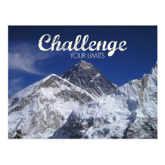 エベレストの挑戦あなたの限界の郵便はがき ポストカード