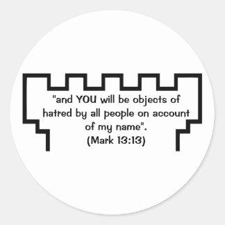 エホバの証人の望楼の印の13:13のステッカー ラウンドシール