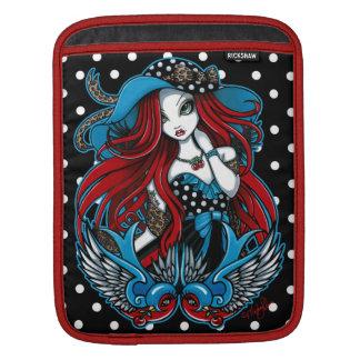 エマのロカビリーのつばめの入れ墨の天使のIPadの袖 iPadスリーブ