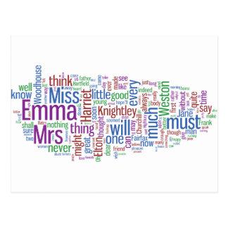 エマの単語の雲 ポストカード