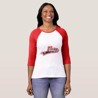 エマの野球のスタイルのRaglan袖 Tシャツ
