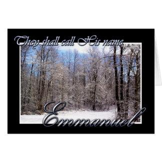 エマニュエルのクリスマスカード カード