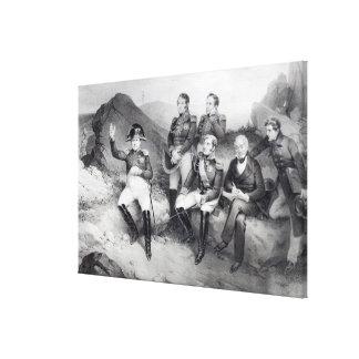 エマニュエルLasへのナポレオンIの命令の回顧録 キャンバスプリント