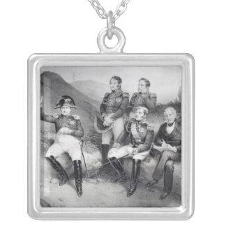 エマニュエルLasへのナポレオンIの命令の回顧録 シルバープレートネックレス