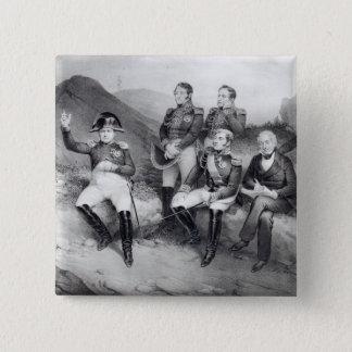 エマニュエルLasへのナポレオンIの命令の回顧録 5.1cm 正方形バッジ