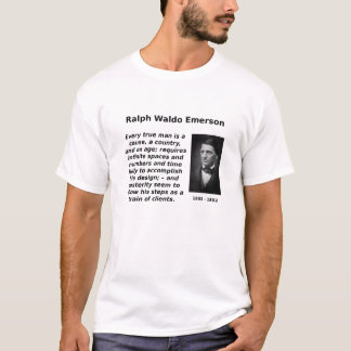 エマーソンのあらゆる本当の人 Tシャツ
