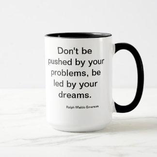 エマーソンの夢の引用文のコップ マグカップ