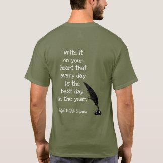 エマーソンの引用文 -- 最も最高のな日- Tシャツ