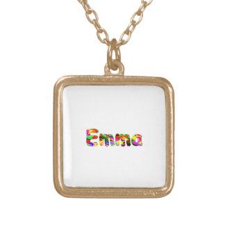 エマ ゴールドプレートネックレス