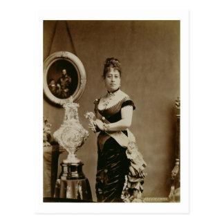 エマ(1836-85年)女王(セピア色の写真) ポストカード