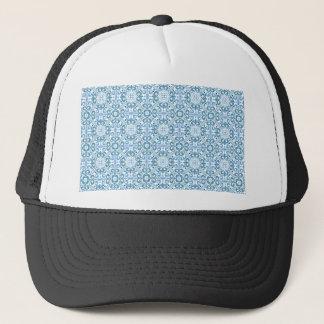 エマJanewayのヴィンテージの青パターン キャップ