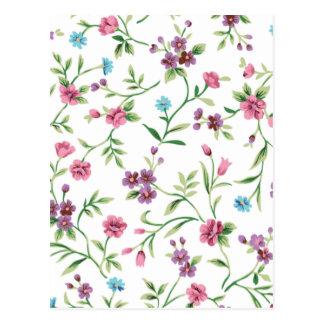 エマJanewayの上品の花柄 ポストカード