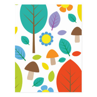 エマJanewayの秋の紅葉 ポストカード