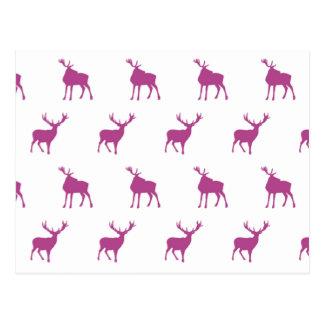エマJanewayの紫色の雄鹿 ポストカード